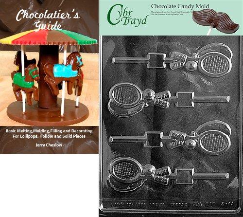 Cybrtrayd Form für Tennisschläger, Schokoladenform, mit Anleitung (in englischer Sprache)
