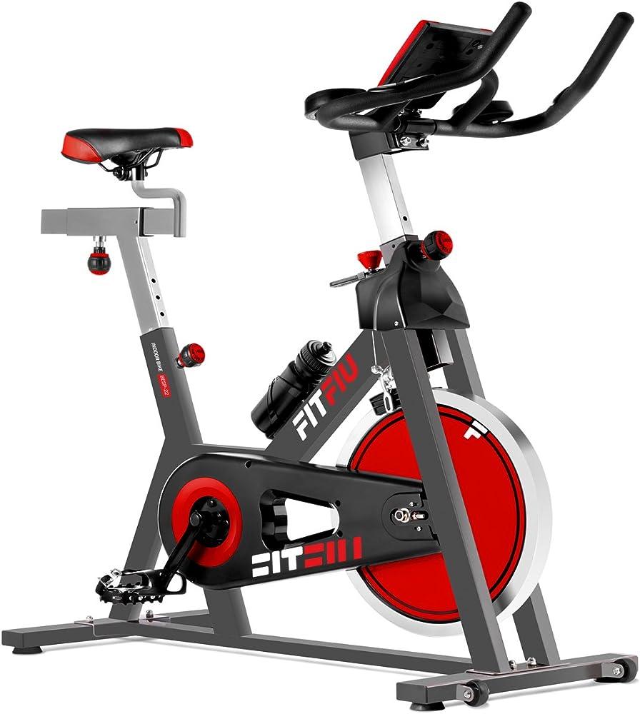 Fitfiu fitness besp-22, spin bike ergonomica, cyclette, con cardiofrequenzimetro e schermo lcd 1100007