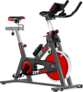 FITFIU Fitness Besp-22 Bicicleta Indoor con Volante de inercia Silent+ para Spinning, Unisex Adulto, Negro, 24kg BESP22