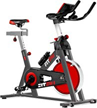 Fitfiu - BESP22 Silent+  Bicicleta spinning indoor con volante de inercia de 24kg, cuadro de acero, pulsometro, regulable