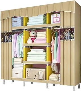 Armoire de Rangement Pour Vêtements de Garde-robe Portable ,Support de Rangement Pour Vêtements Suspendus À Assemblage Sim...