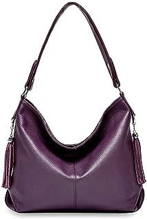 2019 New Fashion Soft Real Genuine Leather Tassel Women's Handbag Ladies Shoulder Tote Messenger Bag Satchel Black White