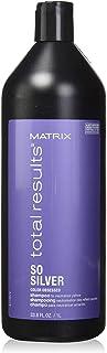 MATRIX Total Results So Silver Color Depositing Purple Shampoo for Neutralizing Yellow Tones, 33.799999999999997 fl. oz.