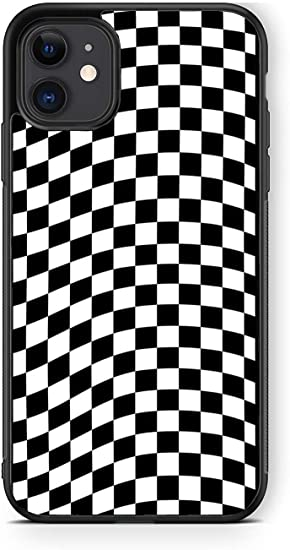 11 pro 11 pro max case XR iPhone 11 Checkered phone case checkerboard iPhone cover 8 plus case Black and white iPhone 7 plus case