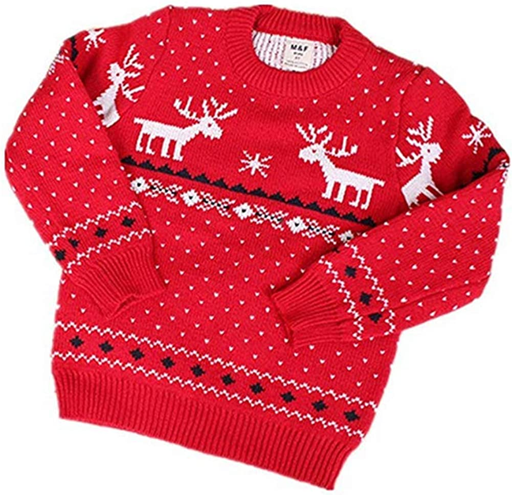 Lowest price challenge Teemall Children's Knitted Fireplace Raindeer for Lovely Sweater Sacramento Mall