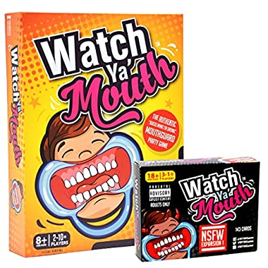 Watch Ya' Mouth Party Card Game, Adult Bundle