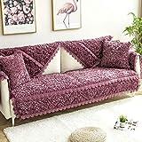 Plüsch Rechteckige gesteppte Möbel-Schutz, Multi-Größe Slipcovers for Haustiere for Kinder Hunde Sofa Loveseat Lehnstuhl und Stuhl-lila 28x28inch ZTJ (Color : Purple, Size : 35x35inch(90x90cm))