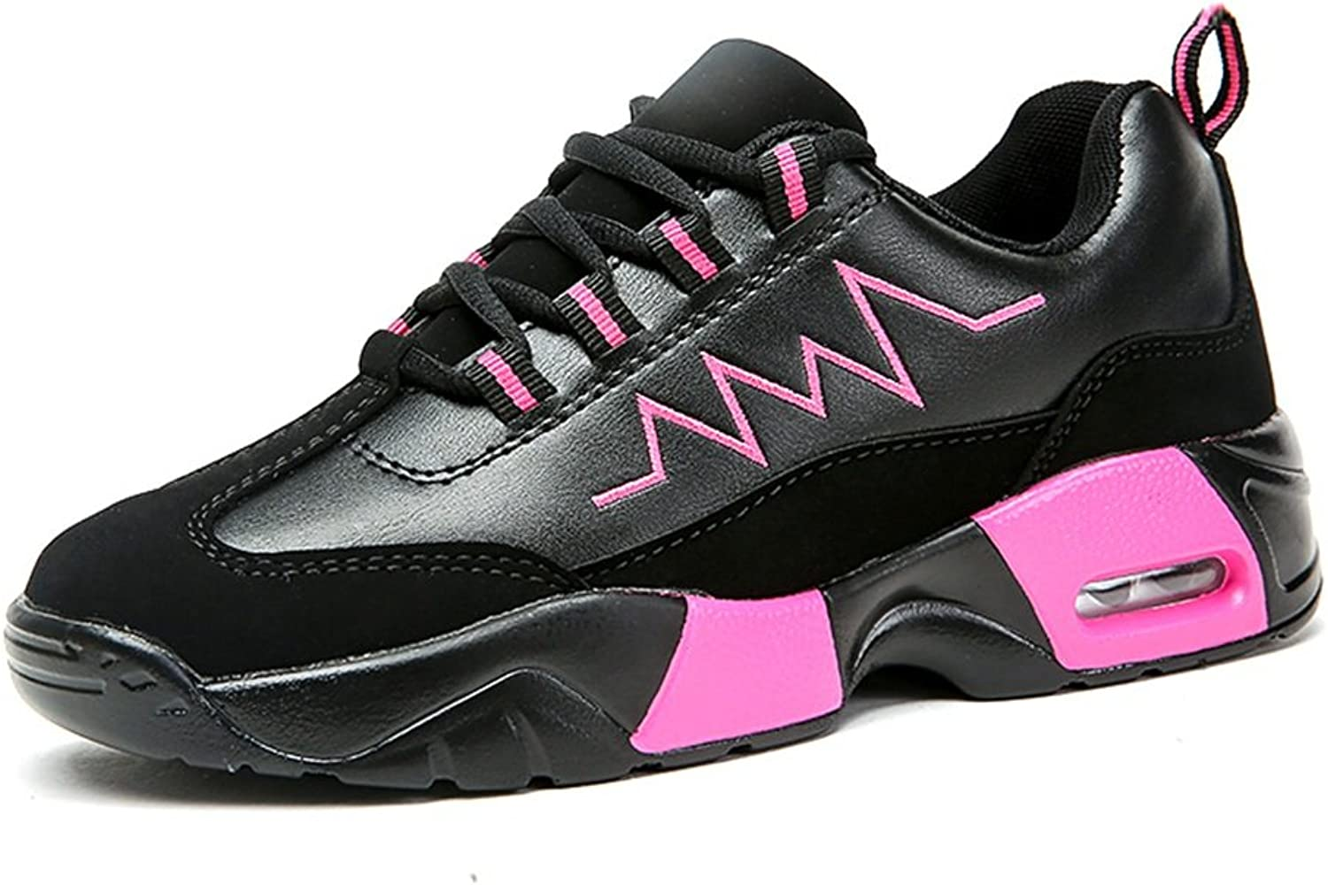 Battle Men Women and Men's Outdoor Flat Heel Sneaker Lace up Athletic Casual shoes Up to Size 47 Fashion (color   Black Pink, Size   6.5 D(M) US)
