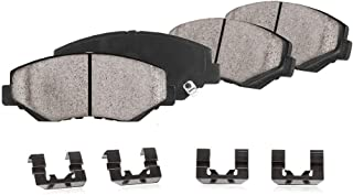CPK12087 FRONT Performance Grade Quiet Low Dust [4] Ceramic Brake Pads + Dual Layer Rubber Shims + Hardware