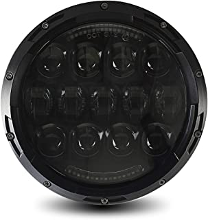 105W URBAN Osram LED Projection Headlight + DRL, Bright White 6000K, 4800 Lumen, IP67 Waterproof, Wide Dual Angle Hi/Lo Beam, Socket H4 / H13 Adapter included, Black
