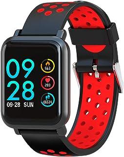 NANE Reloj Inteligente, Impermeable IP68, con Múltiples Modos de Deporte, Pulsera Inteligente, con Pulsómetro, Blood Pressure, GPS, Sueño, Podómetro, Reloj Hombre para Android y iOS,Rojo