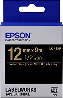 Epson LabelWorks Standard LK (Replaces LC) Tape Cartridge ~1/2