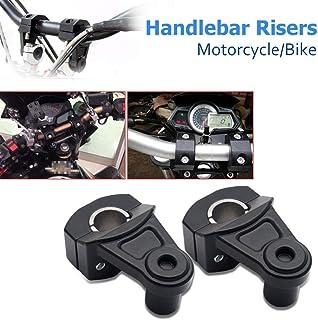 per Harley Kawasaki 22 mm Morsetti rotondi cromati per manubrio Yamaha V-Star 650 Silverado Road Star VTX 1300 C NBX 7//8 pollici