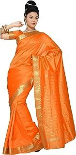 Sanskruti India Damen indisches Ethnisches traditionelles Banarasi Art Seide Sari Wickelkleid