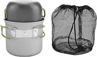 Olla de aluminio-olla de aluminio portátil utensilios de cocina barbacoa al aire libre viajes camping picnic 2 unids/set