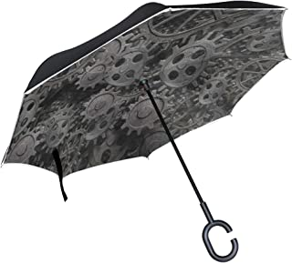 Reverse Umbrella Magic Metal Gear Machine Part Windproof Inverted Umbrella