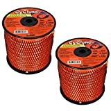 Cyclone Desert Extrusion CY095S3 .095' x 855' Commercial Trimmer Line Orange (2-Pack)