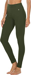 icyzone Women's Skinny Ankle Pants - Daily Ponte Stretch Knit Leggings with Elastic Waistband