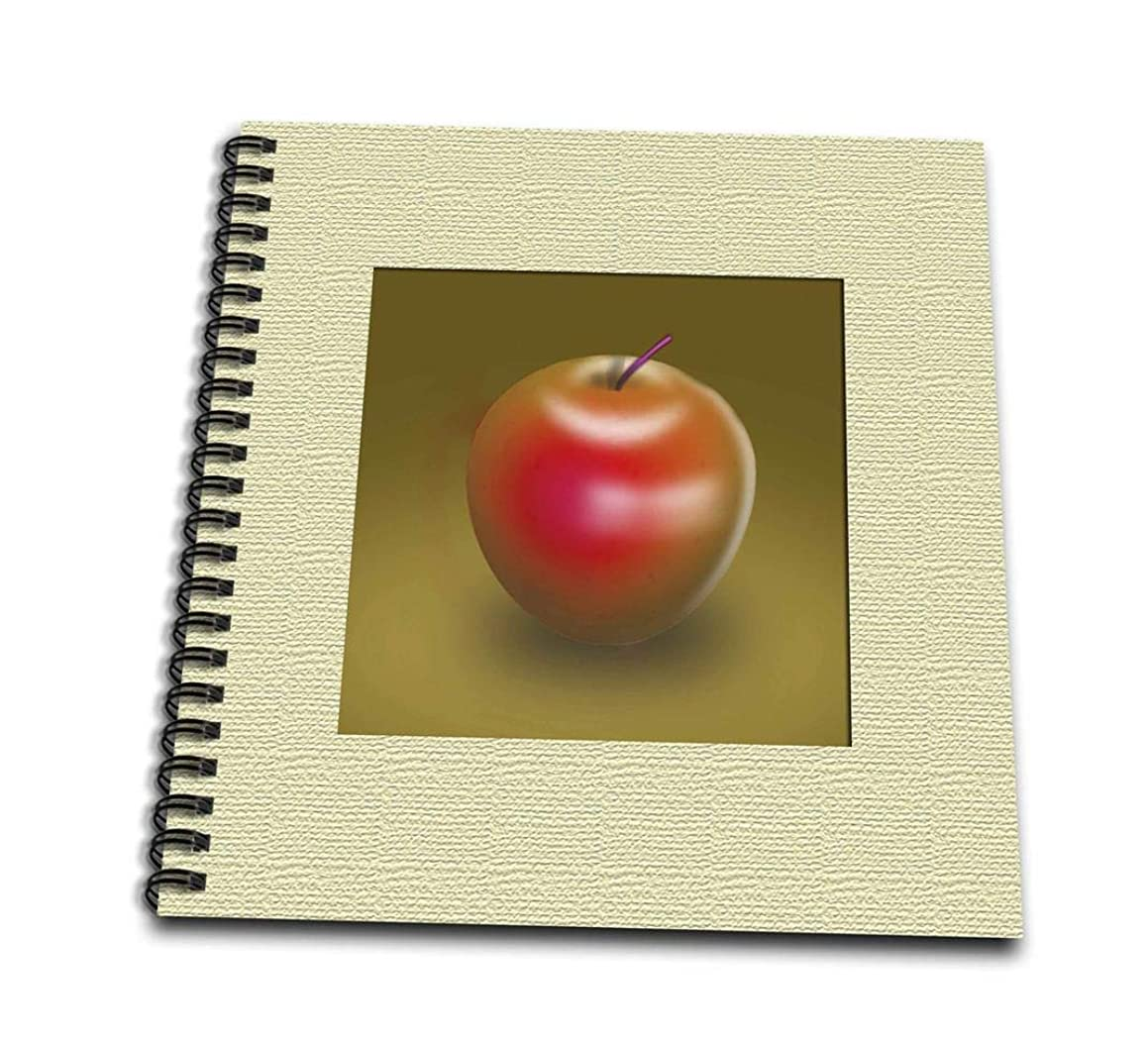 3dRose db_22341_1 Red Delicious Apple Digital Graphic Representation of Fruit-Drawing Book, 8 by 8-Inch