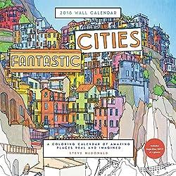 Fantastic Cities Coloring Calendar