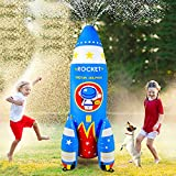 Qrooper Water Toys Inflatable Sprinkler for Kids, 72 inch Giant Kids Sprinkler Summer Outdoor Toys for Kids Play Water Rocket Sprinkler