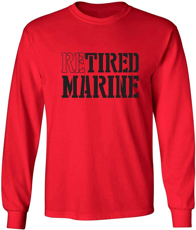 zerogravitee Retired Marine Adult Long Sleeve T-Shirt