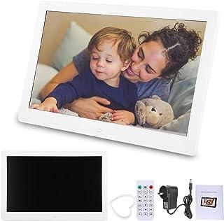 1280 * 800 Pictuer Frame, TN Screen Digtal Frame, 16:10 Remote Control + Button Press Control ABS Home(White, Australian r...