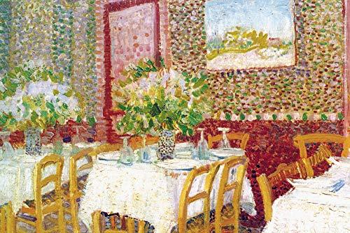 1art1 Vincent Van Gogh Poster Reproduction - Intérieur d'un Restaurant (120 x 80 cm)