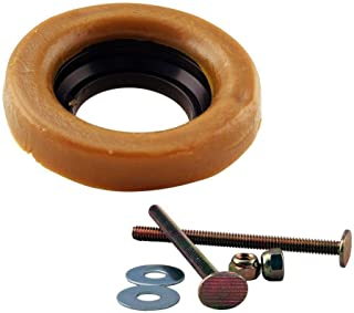 Westbrass D6033-40 Thick Wax Ring Gasket for Toilet Bowl, includes Flange and Closet Bolts
