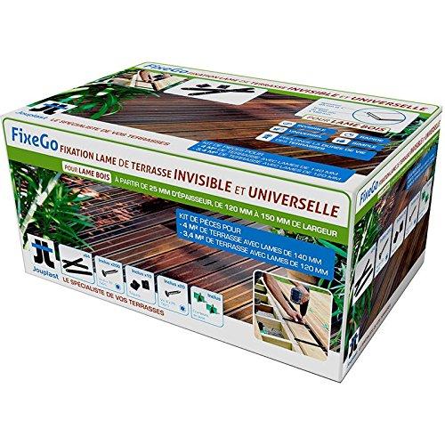 FIXEGO : Fixation Invisible pour lames de terrasse de + de 25 mm d'épaisseur
