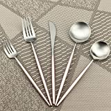 Best Flatware Sets - Silverware set by Gugrida 18/10 Stainless Steel Flatware Review