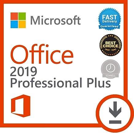 Microsoft Office 2019 Professional Plus - Licence pour 1PC *seulement pour windows 10* - Licence perpétuel - Pas d'abonnement - Licence numérique originale - Envoyé dans un jour par E-mail