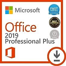 Compatible avec Microsoft Office 2019 Professional Plus pour 1PC ( seulement pour windows 10 ) Licence numérique originale Envoyé par E-mail