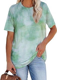 Womens Casual Short Sleeve T-Shirt Crew Neck Loose Tunic...