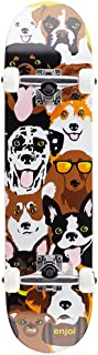 Enjoi Dog Collage FP,Complete Skateboard,Yellow,29.8