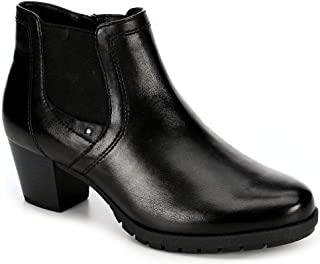 Womens Luna Leather Heeled Ankle Boot Shoes