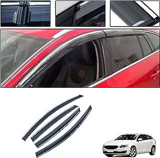 saitake Windabweiser F/ür Renault Kadjar 2015-2019 Autofenster Visier Sonne Regen Rauchabzug Schatten Klebeband Au/ßenvisiere