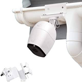 Wasserstein Weatherproof Gutter Mount Compatible with Arlo Pro, Arlo Pro 2, and Arlo HD - Greater Height for Your Arlo Cam...