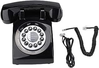 Tosuny Corded Phone, Home Phones Retro Style Vintage Old Fashioned Landline Phone with Speakerphone Telephone Desk Phone House Phone(Black)