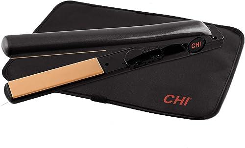 CHI Air Expert Classic Tourmaline Ceramic Flat Iron, Onyx Black, 1.26 lb