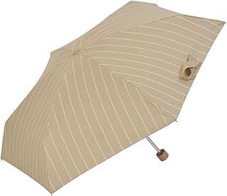 Nifty Colors(ニフティカラーズ) 折りたたみ傘 遮光スラブストライプ5段ミニ ベージュ 50cm 2270BG