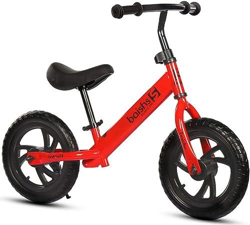 DDCX 12-Zoll Kinderhaushalt 2-6 Jahre alt M er und Frauen Kindercooter kein Pedal yo-yo Walker,rot