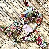 JUNJUNBO Bikini a Rayas Traje de baño Anudado Mujer Biquinis Tanga de Playa Traje de baño Bandeau Bikinis brasileños