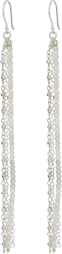 Dee Berkley - White Dangle Earrings