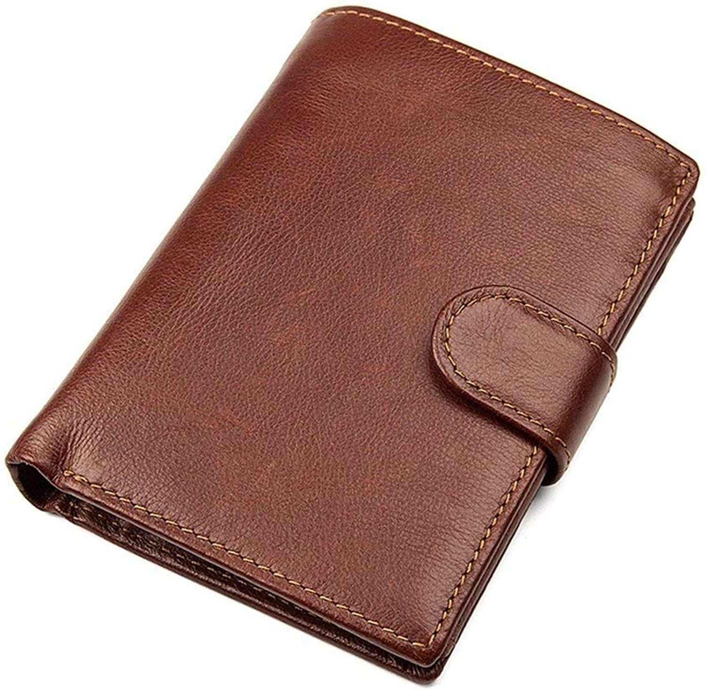 YHUJH Home Mens Wallet Genuine Blocking Horse Rindsleder Crotit Crotit Crotit Carder Inhaber Vintage Geldbörse-Rot-Braun (13,5  10  1,5 cm) B07MBX5CQQ bb850f