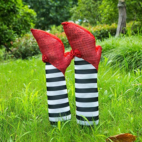 Happystuff Halloween Decorations Wicked Witch Legs Holiday Decorations Front Yard Patio Lawn Garden Party Décor Yard Decor Props for Halloween Outdoor and Indoor