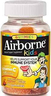 Airborne Kids Assorted Fruit Flavored Gummies, 21 Count 667mg of Vitamin C and Minerals & Herbs Immune Support (Pack of 8)