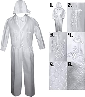 Baby Toddler Boy Baptism Christening Vest Tuxedo Suit Outfit Long Sleeve Sm-4T (XL (18-24 Months Old), Style 1: Christening Tuxedo)