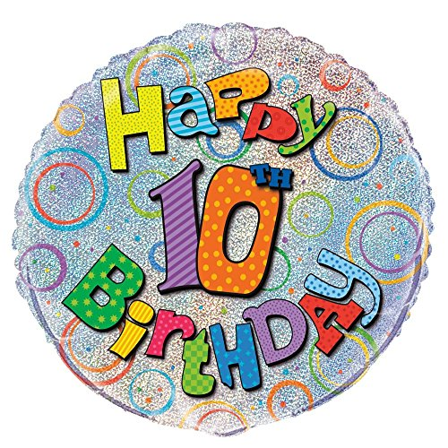 Unique Party 45,7cm Folie Prism Happy Birthday Ballon