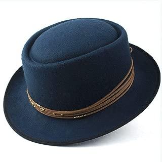 2019 Mens Womens Hats Unisex Men Women Flat Top Hat Autumn Fashion Pop Church Travel Hat Wool Pork Pie Hat Pop Panama Hat Fascinator Trilby Hat Outdoor Jazz Hat Size 56-58CM